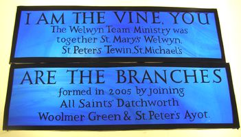 Hand-painted lettering for All Saints' Church