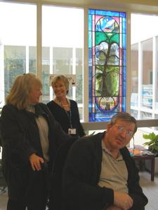 The Danesbury window with residents and staff
