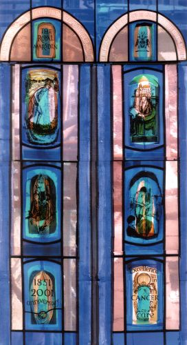 The eight panels of the Royal Marsden windows