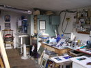 The kiln in Tessa's studio
