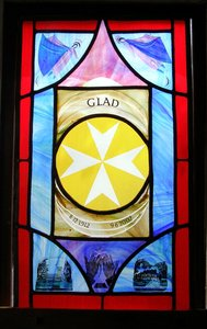 Memorial window for Gladys Ball