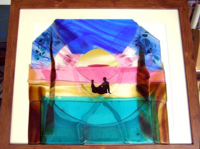 Fused glass work for Dave and Miranda's wedding